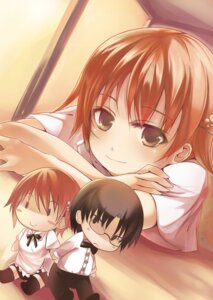 Rating: Safe Score: 9 Tags: inami_mahiru kaiwarina takanashi_souta working!! User: Radioactive