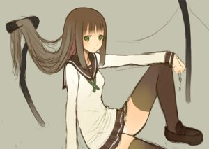 Rating: Safe Score: 17 Tags: emuke pantsu seifuku thighhighs User: Radioactive