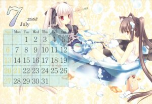 Rating: Questionable Score: 18 Tags: animal_ears bathing calendar kooh lolita_fashion nekomimi pangya school_swimsuit swimsuits tatekawa_mako thighhighs wnb User: van