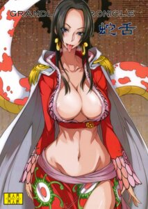 Rating: Questionable Score: 45 Tags: areola boa_hancock cleavage isao majimeya no_bra nopan one_piece User: Radioactive