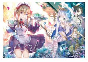 Rating: Safe Score: 50 Tags: digital_version dress maid megane outbreak_company pointy_ears thighhighs uniform yuugen User: Twinsenzw