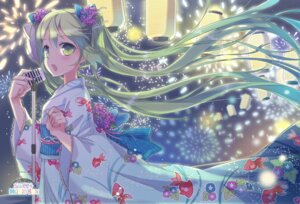 Rating: Safe Score: 30 Tags: hatsune_miku vocaloid young-in yukata User: Nekotsúh