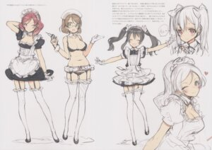 Rating: Questionable Score: 5 Tags: ayase_eli bra cleavage garter_belt kousaka_honoka love_live! maid megane nishikino_maki nurse oyari_ashito pantsu shoujo_kishidan sketch stockings tagme thighhighs yazawa_nico User: Radioactive