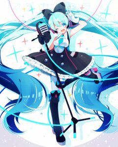 Rating: Safe Score: 43 Tags: dress hatsune_miku headphones heels pantyhose ponita vocaloid User: Mr_GT