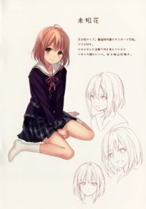 Rating: Safe Score: 49 Tags: fukahire_sanba ruinon seifuku sketch User: donicila