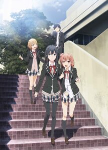 Rating: Safe Score: 81 Tags: digital_version hikigaya_hachiman isshiki_iroha seifuku thighhighs yahari_ore_no_seishun_lovecome_wa_machigatteiru. yuigahama_yui yukinoshita_yukino User: blooregardo