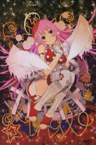Rating: Safe Score: 5 Tags: angel okama thighhighs wings User: Radioactive