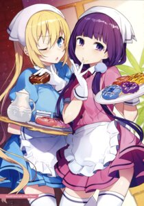 Rating: Safe Score: 62 Tags: blend_s color_issue hinata_kaho maid mika_pikazo sakuranomiya_maika thighhighs waitress User: fireattack