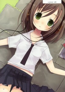 Rating: Safe Score: 15 Tags: exit_tunes headphones seifuku siro User: crim