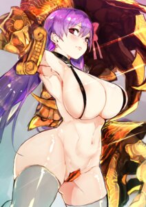 Rating: Questionable Score: 96 Tags: areola bottomless fate/extra fate/extra_ccc fate/grand_order fate/stay_night hiranko lingerie maebari passion_lip thighhighs User: Mr_GT