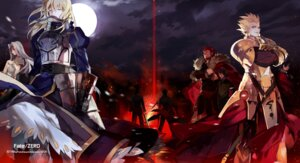 Rating: Safe Score: 21 Tags: emiya_kiritsugu fate/stay_night fate/zero gilgamesh_(fsn) irisviel_von_einzbern kotomine_kirei rider_(fate/zero) saber starshadowmagician toosaka_tokiomi waver_velvet User: hobbito