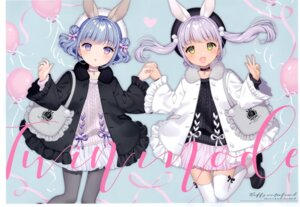 Rating: Questionable Score: 19 Tags: animal_ears bunny_ears heels pantyhose thighhighs w.label wasabi_(artist) User: Radioactive
