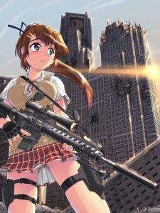 Rating: Safe Score: 48 Tags: gun hase_yuu nopan seifuku User: blooregardo