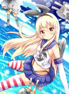 Rating: Questionable Score: 28 Tags: kantai_collection rensouhou-chan shimakaze_(kancolle) shinekalta thighhighs User: 椎名深夏
