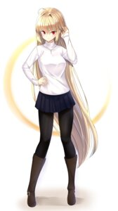 Rating: Safe Score: 43 Tags: arcueid_brunestud i.f.s.f pantyhose sweater tsukihime User: Nepcoheart