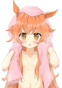 Rating: Questionable Score: 16 Tags: animal_ears maru_shion mayano_top_gun_(umamusume) topless towel uma_musume_pretty_derby wet User: yanis
