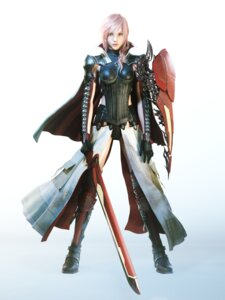 Rating: Safe Score: 35 Tags: armor cg final_fantasy final_fantasy_xiii lightning lightning_returns:_final_fantasy_xiii square_enix sword thighhighs User: Radioactive