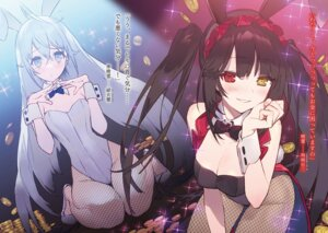 Rating: Safe Score: 53 Tags: animal_ears bunny_ears bunny_girl cleavage date_a_live date_a_live_fragment_date_a_bullet fishnets heterochromia noco pantyhose tail tokisaki_kurumi User: kiyoe