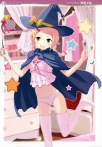 Rating: Questionable Score: 41 Tags: kishida_mel pantsu thighhighs witch User: petopeto