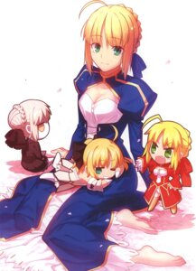 Rating: Questionable Score: 48 Tags: chibi cleavage dress fate/extra fate/stay_night feet saber saber_alter saber_extra saber_lily takeuchi_takashi type-moon User: 逍遥游