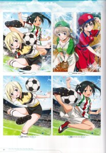 Rating: Safe Score: 5 Tags: baseball erica_hartmann francesca_lucchini gertrud_barkhorn lynette_bishop soccer strike_witches tagme User: Nepcoheart