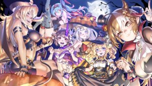 Rating: Safe Score: 20 Tags: blackblades cleavage dress garter halloween horns leotard pantsu pointy_ears skirt_lift tagme tail thighhighs wallpaper wings witch zhanjianshaonv User: BattlequeenYume