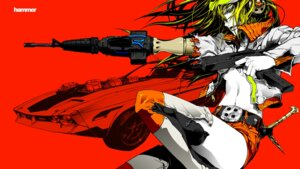 Rating: Safe Score: 10 Tags: gun nagimiso thighhighs wallpaper User: Metalic