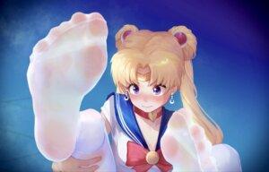 Rating: Safe Score: 26 Tags: cleavage feet ice_(ice_aptx) sailor_moon see_through seifuku tsukino_usagi User: Dreista