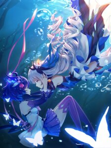 Rating: Safe Score: 27 Tags: benghuai_xueyuan bronya_zaychik dress heels honkai_impact seele_vollerei shadow_zhang skirt_lift thighhighs yuri User: whitespace1