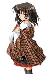 Rating: Safe Score: 4 Tags: hinoue_itaru kanon key misaka_shiori sweater thighhighs User: marechal