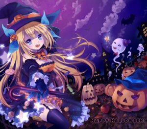 Rating: Safe Score: 50 Tags: aizawa_hikaru halloween mauve microsoft stockings thighhighs witch User: fairyren