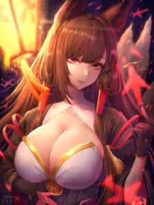 Rating: Safe Score: 34 Tags: akagi_(azur_lane) animal_ears azur_lane japanese_clothes kitsune pafekui tail User: BattlequeenYume