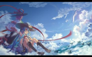 Rating: Safe Score: 60 Tags: ane_niku hinanawi_tenshi landscape nagae_iku touhou User: Mr_GT