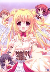 Rating: Safe Score: 45 Tags: chibi dress roritora tsukishima_yuuko wings User: petopeto