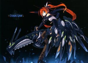 Rating: Safe Score: 54 Tags: asahiage chainsaw mecha mecha_musume poco thighhighs User: fireattack