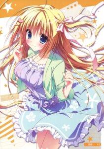 Rating: Safe Score: 84 Tags: dress hanasaki_work_spring kotobuki_hikari ryohka saga_planets summer_dress User: Twinsenzw