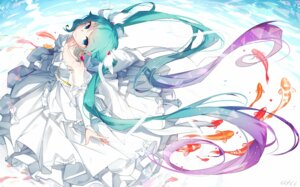 Rating: Safe Score: 58 Tags: dress hatsune_miku sen_ya signed vocaloid User: RyuZU