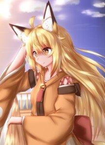 Rating: Safe Score: 9 Tags: animal_ears horokusa kitsune tail User: dick_dickinson