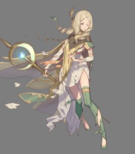 Rating: Questionable Score: 9 Tags: dress emerina fire_emblem fire_emblem_heroes fire_emblem_kakusei nintendo tagme tattoo thighhighs torn_clothes weapon zaza_xcan01 User: fly24