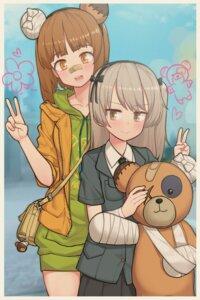 Rating: Safe Score: 14 Tags: bandages bandaid funako_(newggo) girls_und_panzer nishizumi_miho shimada_arisu User: Mr_GT