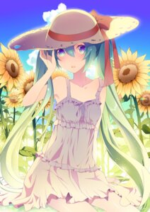 Rating: Safe Score: 47 Tags: dress hatsune_miku summer_dress temari_(artist) vocaloid User: ddns001