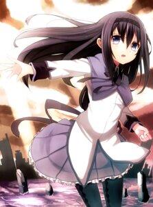 Rating: Safe Score: 26 Tags: akemi_homura haruken pantyhose puella_magi_madoka_magica User: hobbito