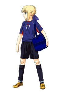 Rating: Safe Score: 8 Tags: a1 fate/stay_night initial-g saber soccer User: Radioactive
