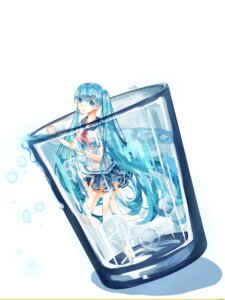 Rating: Safe Score: 29 Tags: bottle_miku see_through seifuku thighhighs vocaloid wet wet_clothes User: Zatsune_Miku