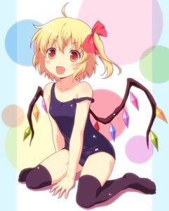 Rating: Questionable Score: 33 Tags: flandre_scarlet school_swimsuit swimsuits thighhighs touhou yamasan User: Radioactive
