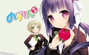 Rating: Safe Score: 14 Tags: cotoji kinoshita_ringo_(nourin) nakazawa_minori nourin seifuku wallpaper User: Korino