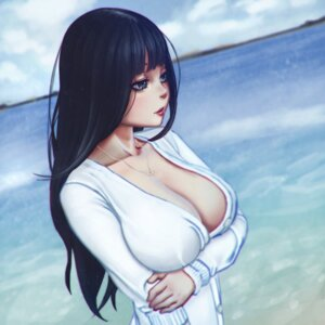Rating: Questionable Score: 47 Tags: breast_hold cleavage no_bra open_shirt sweater xxnikichenxx User: sylver650