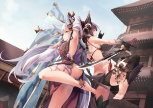 Rating: Questionable Score: 114 Tags: animal_ears ass bikini feet granblue_fantasy no_bra pantsu saraki socie_(granblue_fantasy) swimsuits sword tail thighhighs yuel_(granblue_fantasy) User: Mr_GT
