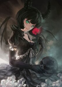 Rating: Safe Score: 74 Tags: black_rock_shooter dead_master dress hjl horns vocaloid wings User: blooregardo