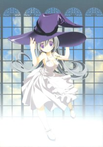 Rating: Questionable Score: 27 Tags: cleavage dress kyougetsutei miyashita_miki paper_texture witch User: crim